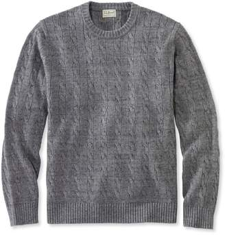 L.L. Bean L.L.Bean Cotton Cable Sweater, Crewneck Slightly Fitted