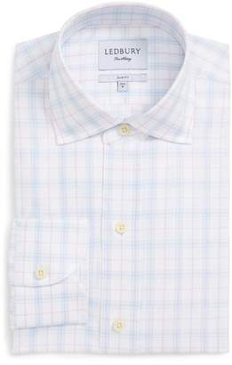 Ledbury Lymann Trim Fit Plaid Dress Shirt