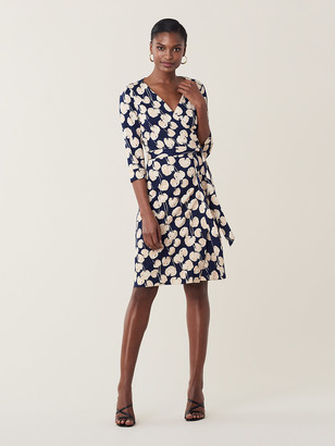 Diane von Furstenberg New Julian Two Silk-Jersey Wrap Dress