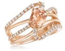 LeVian Le Vian Vanilla Diamonds, Peach Morganite & 14K Strawberry Gold Ring