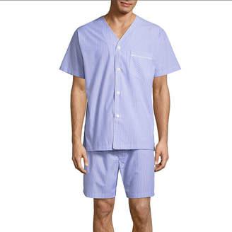 STAFFORD Stafford V-Neck Short Sleeve/ Short Leg Pajama Set - Men's