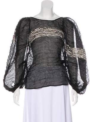 Rachel Comey Sheer Textured Top w/ Tags