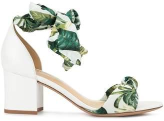Alexandre Birman white botanical sandals