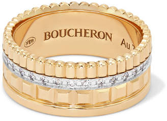 Boucheron Quatre Radiant Edition Small 18-karat Gold Diamond Ring - 52