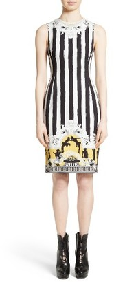 Women's Versace Collection Placed Catwalk Print Silk Dress