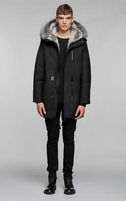 Mackage MORITZ-X flannel parka with fur lined hood