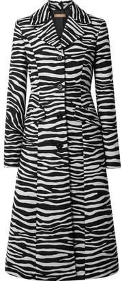 Michael Kors Wool-jacquard Coat - Zebra print