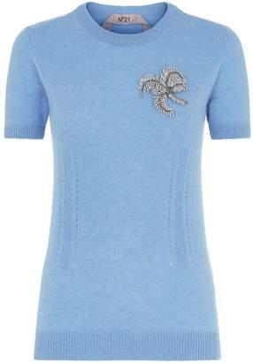 N°21 N 21 Palm Embellished Sweater