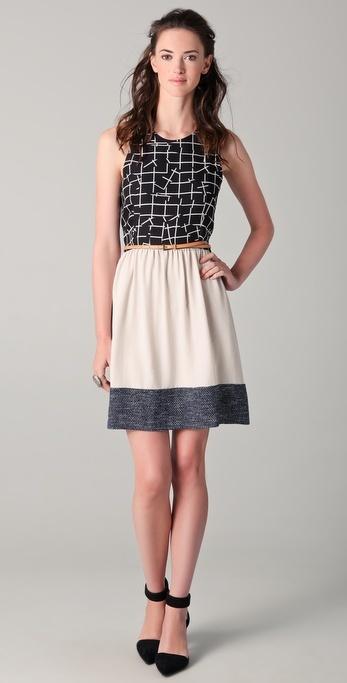 Sachin + Babi Emma Belted Combo Dress