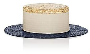 Eugenia Kim Women's Cruz Straw Boater Hat - Blue