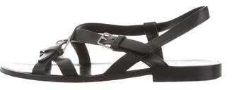 Saint Laurent Leather Strap Sandals