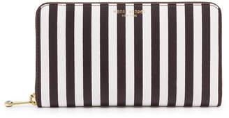 Henri Bendel Centennial Stripe Zip Around Continental Wallet
