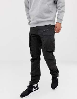G Star G-Star Rovic zip cargo pants 3D tapered in black