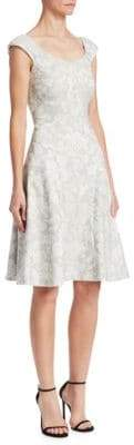 Zac Posen Floral Fit-&-Flare Dress