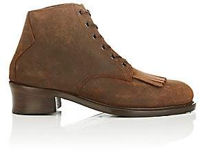 Barbanera BARBANERA MEN'S BUSTER OILED SUEDE BOOTS - DK. BROWN SIZE 8 M