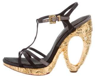 Louis Vuitton T-Strap Platform Sandals