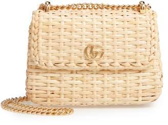 Gucci Linea Cestino Glazed Wicker Mini Shoulder Bag