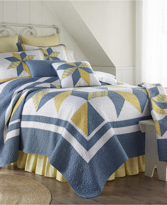 American Heritage Textiles Sunny Star 3 Piece Cotton Quilt Set King Bedding