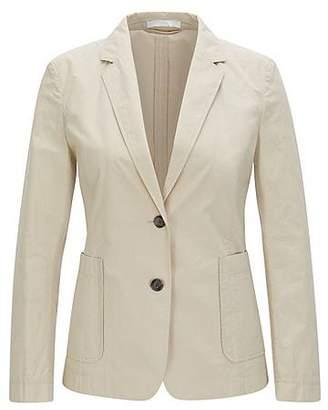 HUGO BOSS Regular-fit jacket in a cotton blend