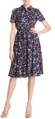Nanette Lepore Nanette Floral Belted Fit & Flare Dress