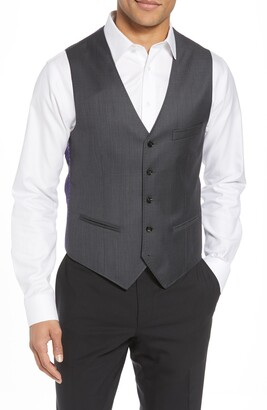 Ted Baker Troy Slim Fit Solid Wool Vest
