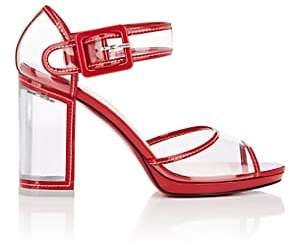 Christian Louboutin Women's Barbaclara Patent Leather & PVC Platform Sandals - Red