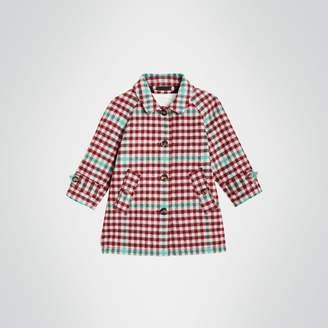 Burberry Childrens Check Wool Car Coat