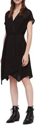 AllSaints Claria Asymmetrical Hem Dress