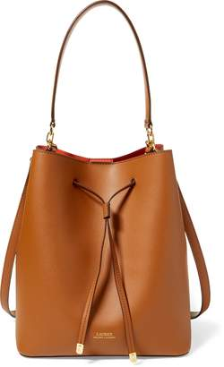 Ralph Lauren Leather Debby Drawstring Bag