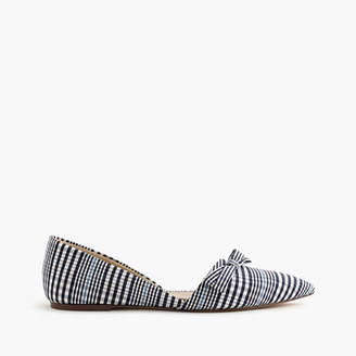 Sloan plaid d'Orsay flats with bow $158 thestylecure.com