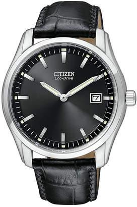 Citizen Men's Eco-Drive Black Croc Embossed Leather Strap Watch 40mm AU1040-08E
