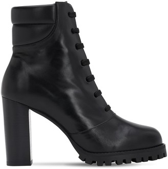 Stuart Weitzman 90mm Cyler Leather Ankle Boots