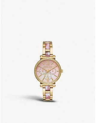 ea2e9df5891f Michael Kors MK4344 Sofie yellow-gold tone stainless steel watch
