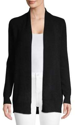 Lord & Taylor Waffle Cashmere Cardigan