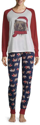 HOLIDAY #FAMJAMS Holiday #FAMJAMS Fairisle Bear 2 Piece Pajama Set -Women's