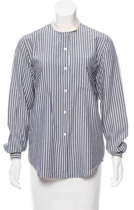 Ungaro Emanuel by Striped Button Up Top