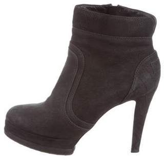 Chanel Suede Ankle Booties Black Suede Ankle Booties