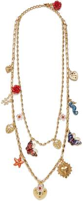 Charm-embellished double-chain necklace