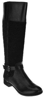 Isaac Mizrahi Live! Quilted Tall Shaft Riding Boots
