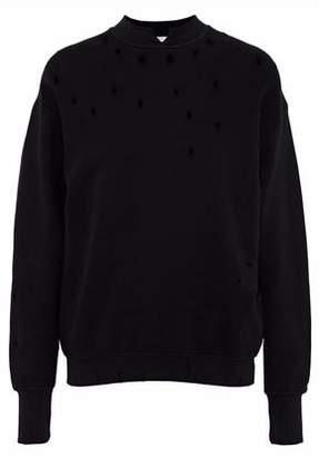 Helmut Lang Distressed Cotton-Terry Sweatshirt