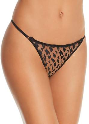 Heidi Klum Intimates Leopard Sunset Lace Thong