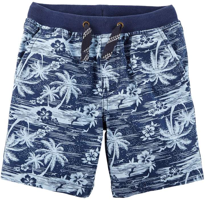 Toddler Boy Palm Tree Cargo Shorts