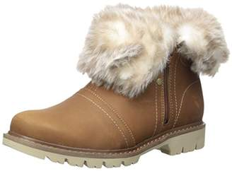 Caterpillar Women's Flurry WP Pull on Cold Weather Boot Faux Fur Collar Ankle