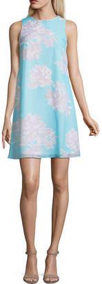 Jessica Howard Sleeveless Floral A-Line Dress-Petites