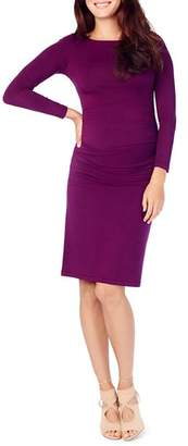 Ingrid & Isabel Maternity Ruched-Side Dress