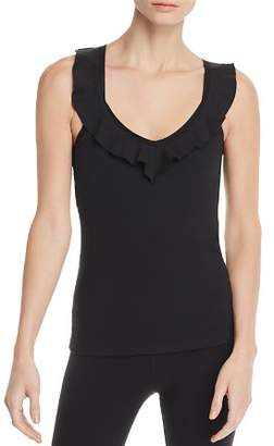 Beyond Yoga Frill Seeker Ruffled Tank