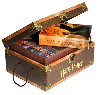 Harry Potter Books Set #1-7 in Collectible Trunk-Like Toy Chest Box