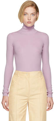 Nina Ricci Purple Cut-Out Turtleneck
