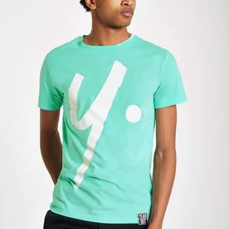 River Island Mens Year Dot mint Green logo T-shirt