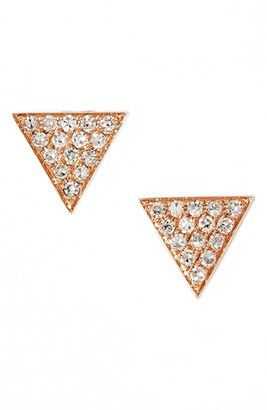 Women's Dana Rebecca Designs 'Emily Sarah' Diamond Pave Triangle Stud Earrings (Nordstrom Exclusive) $440 thestylecure.com